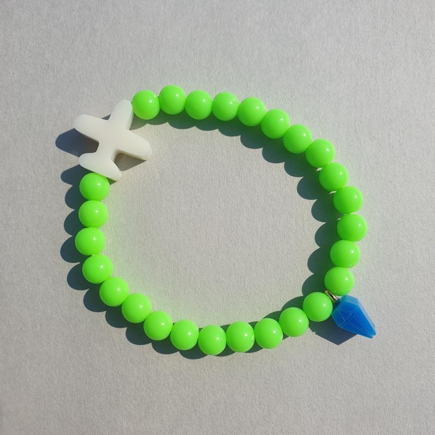봉보(BONBEAU) Color airplane layered Bracelet 비행기 비즈팔찌 3color