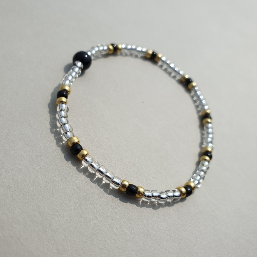 봉보(BONBEAU) Colormix beads layered Bracelet 칼라믹스 레이어드 비즈팔찌 7color