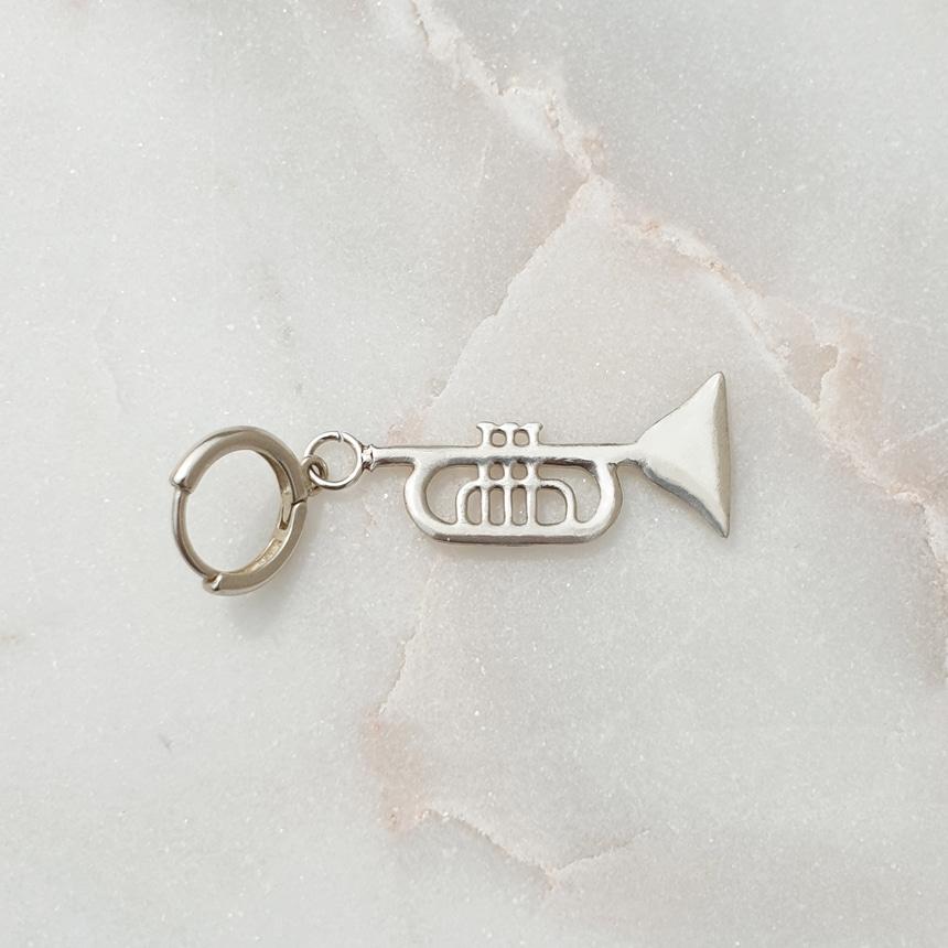 봉보(BONBEAU) 악기시리즈 유니크 실버 드롭귀걸이 instrument Concerto Earring