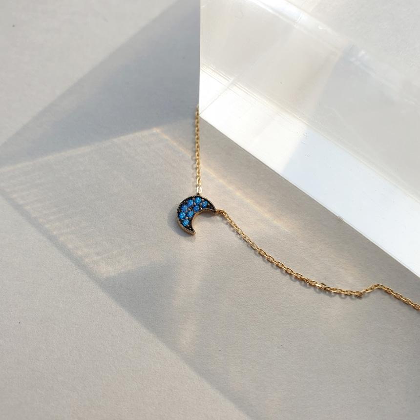 봉보(BONBEAU) 미니 골드 달 14k 초커목걸이 Blue Moon 14k gold Necklace