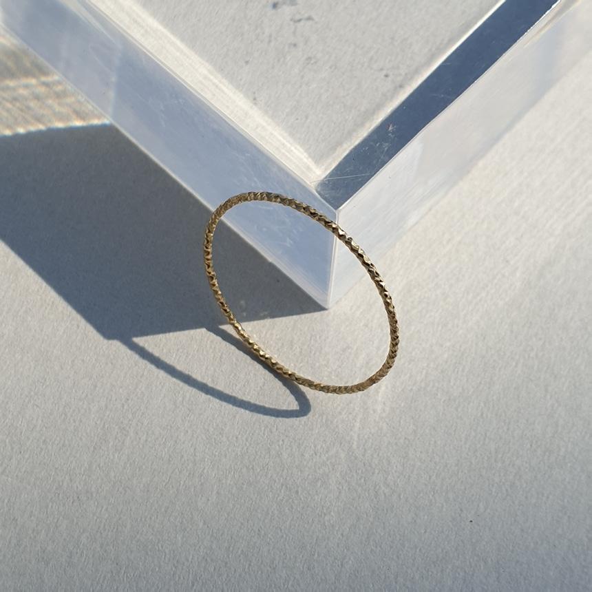 봉보(BONBEAU) 컷팅라인 열손가락반지 레이어드 실반지 Cutting line layered Ring